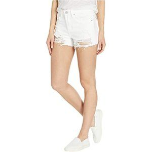 Blank NYC The Barrow High Rise Distressed Shorts